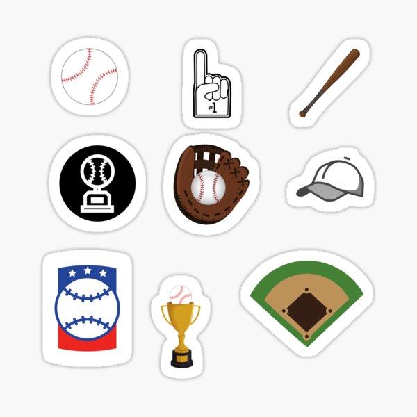 Pack d'autocollants de baseball Sticker