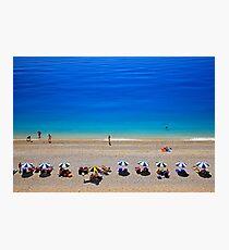 Egremni beach - Lefkada island Photographic Print