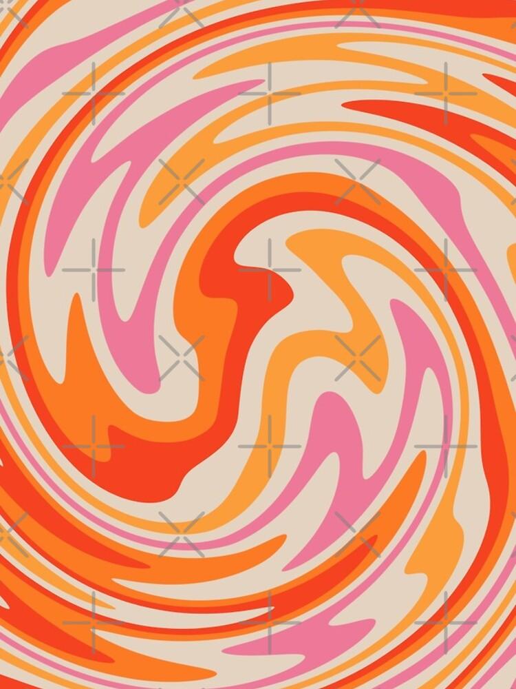 70s Retro Swirl Color Abstract by trajeado14