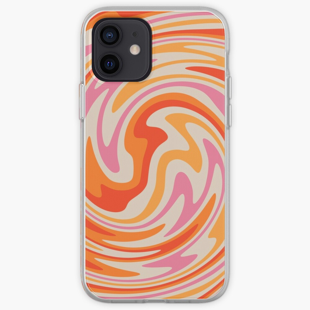 70s Retro Swirl Color Abstract iPhone Case & Cover