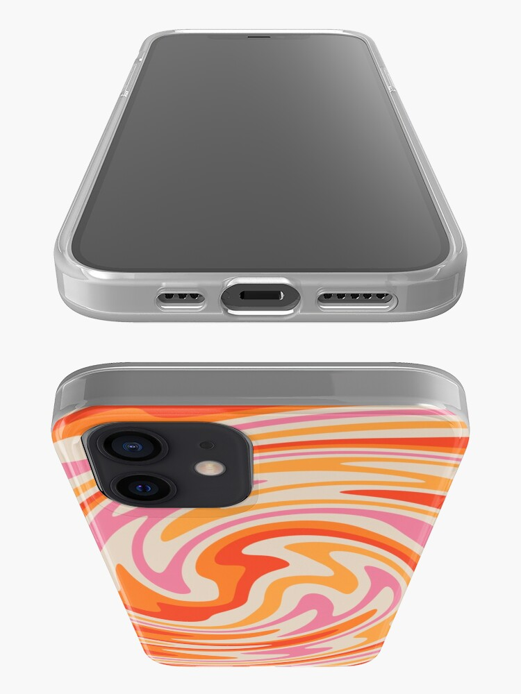 Alternate view of 70s Retro Swirl Color Abstract iPhone Case & Cover