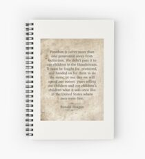 Ronald Reagan Quote Spiral Notebook
