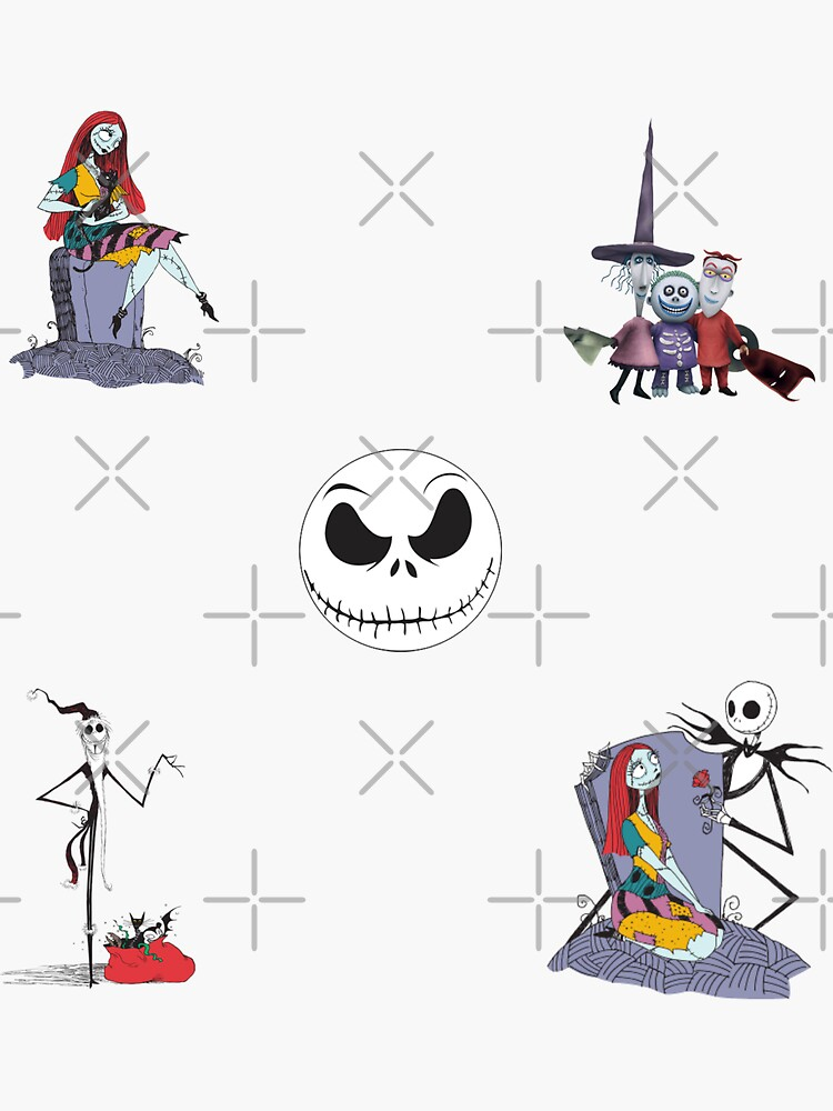 Jack Skellington  and Sally Sticker Pack by SterlingTales