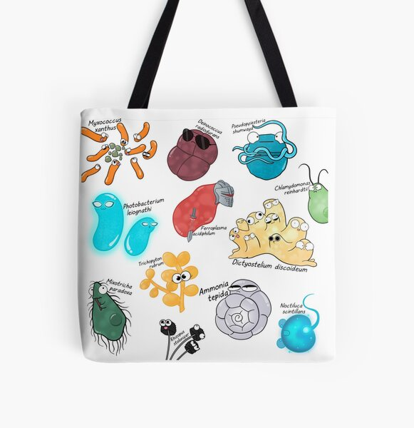 Microbe Menagerie All Over Print Tote Bag