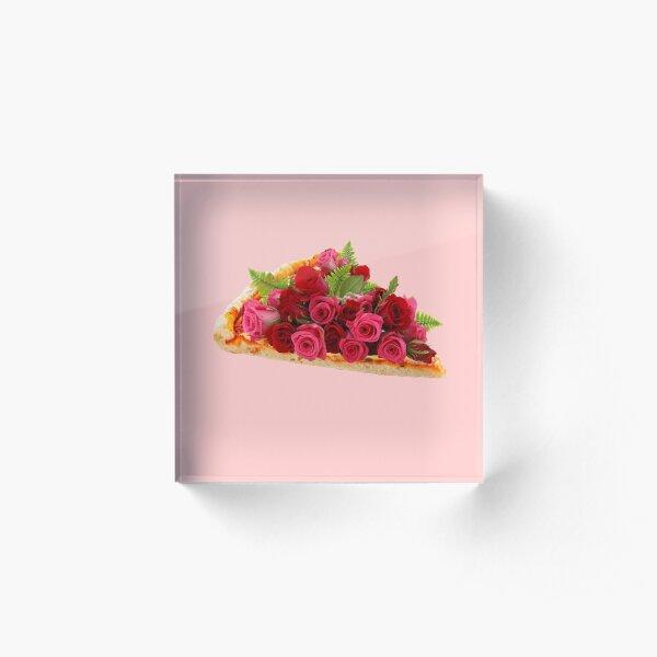 Rose pizza Acrylic Block