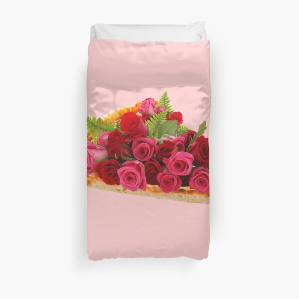 Rose pizza Duvet Cover