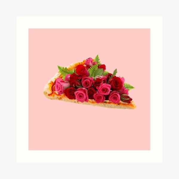 Rose pizza Art Print