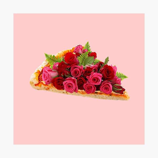 Rose pizza Photographic Print