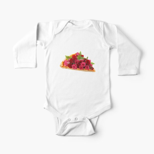 Rose pizza Long Sleeve Baby One-Piece