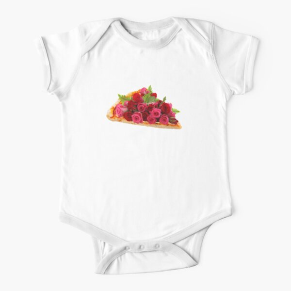 Rose pizza Short Sleeve Baby One-Piece