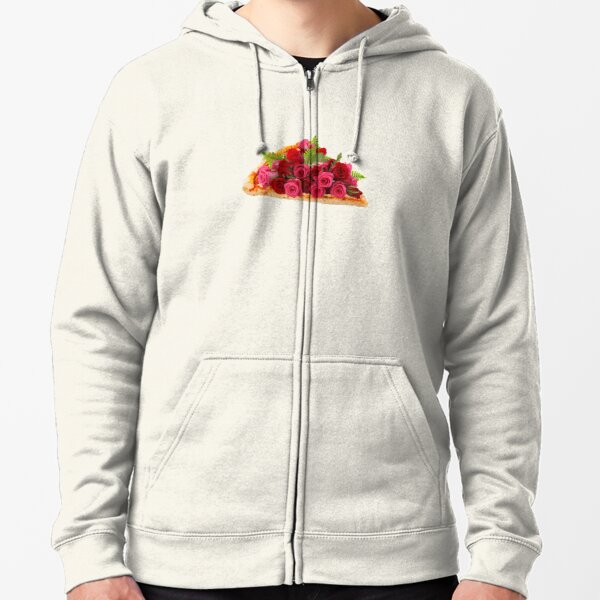 Rose pizza Zipped Hoodie