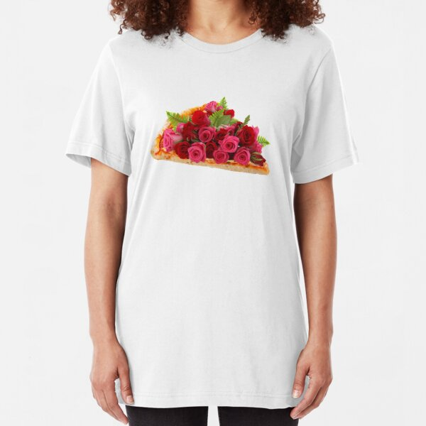 Rose pizza Slim Fit T-Shirt