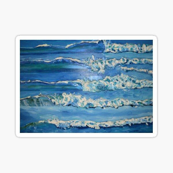 Waves Surf Pattern Sticker