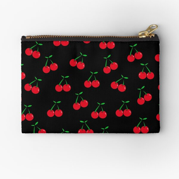 Cherries 2 (on black) Zipper Pouch