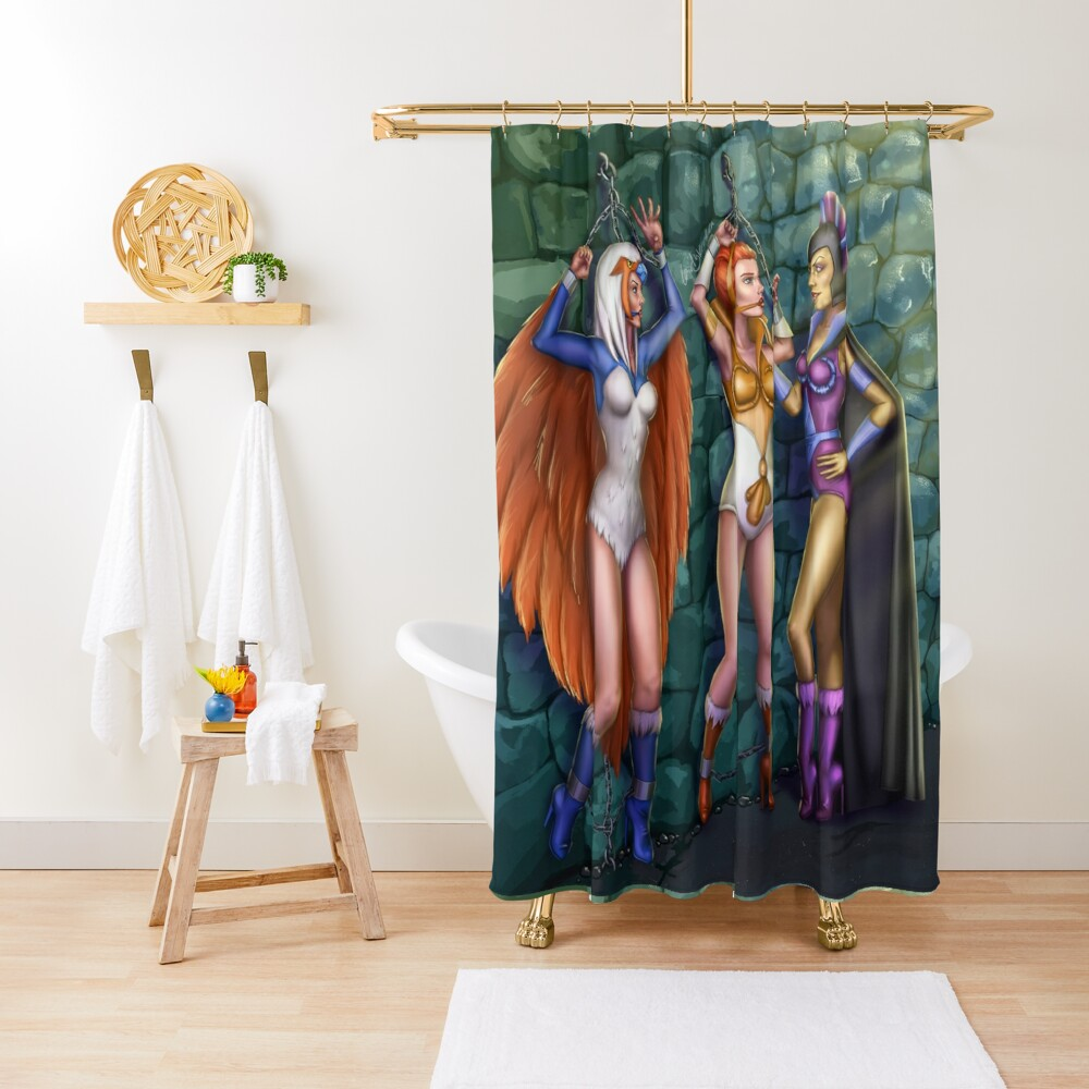 In the Castle Dungeons Shower Curtain