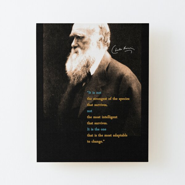 PORTRAIT OF YOUNG GEOLOGIST CHARLES DARWIN PAINTING ART REAL CANVAS PRINT