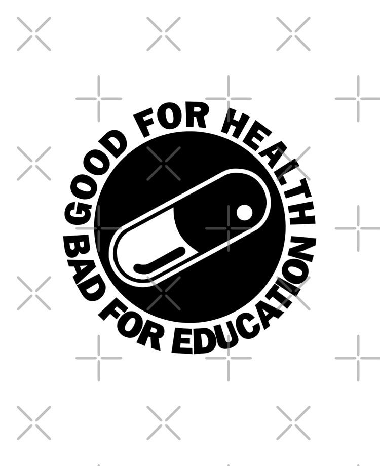 Akira Kanadas Good For Health Bad For Education Pill Logo Jacket Ipad Case Skin By Zerplin Redbubble