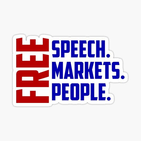 la libertad de expresión comercializa personas Pegatina