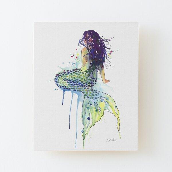 Mermaid Wood Mounted Print
