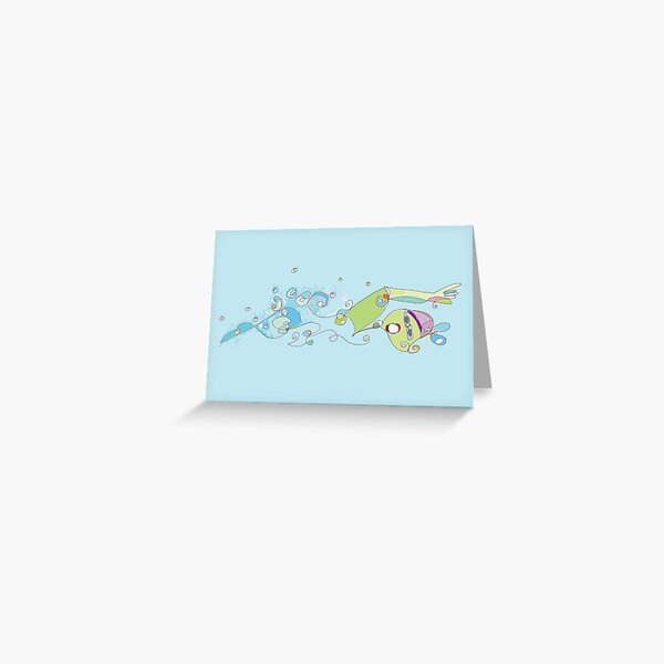 Footloose de la Water Greeting Card