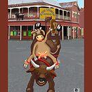 Cowgirl - bullriding at the Great Western Hotel by goanna