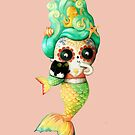 The Day of The Dead Cute Mermaid Girl. by colonelle