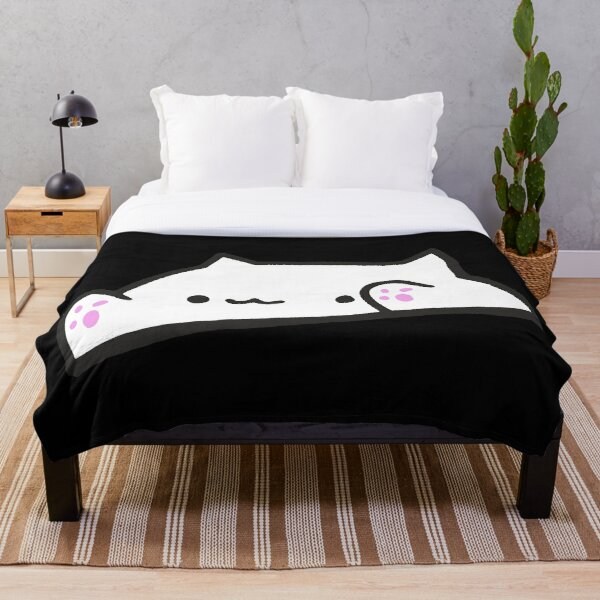 Bongo Cat Meme Throw Blanket