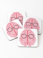 Brain Glasses Coasters