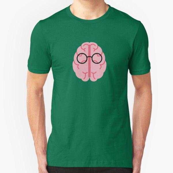 Brain Glasses Slim Fit T-Shirt