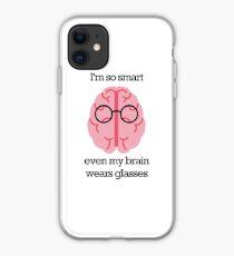 Brain Glasses – Text iPhone Case