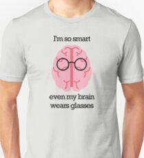 Brain Glasses – Text Slim Fit T-Shirt