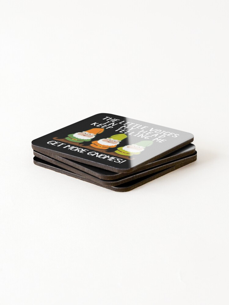 Alternate view of The Littles Voices Get More Gnomes Dark Coasters (Set of 4)
