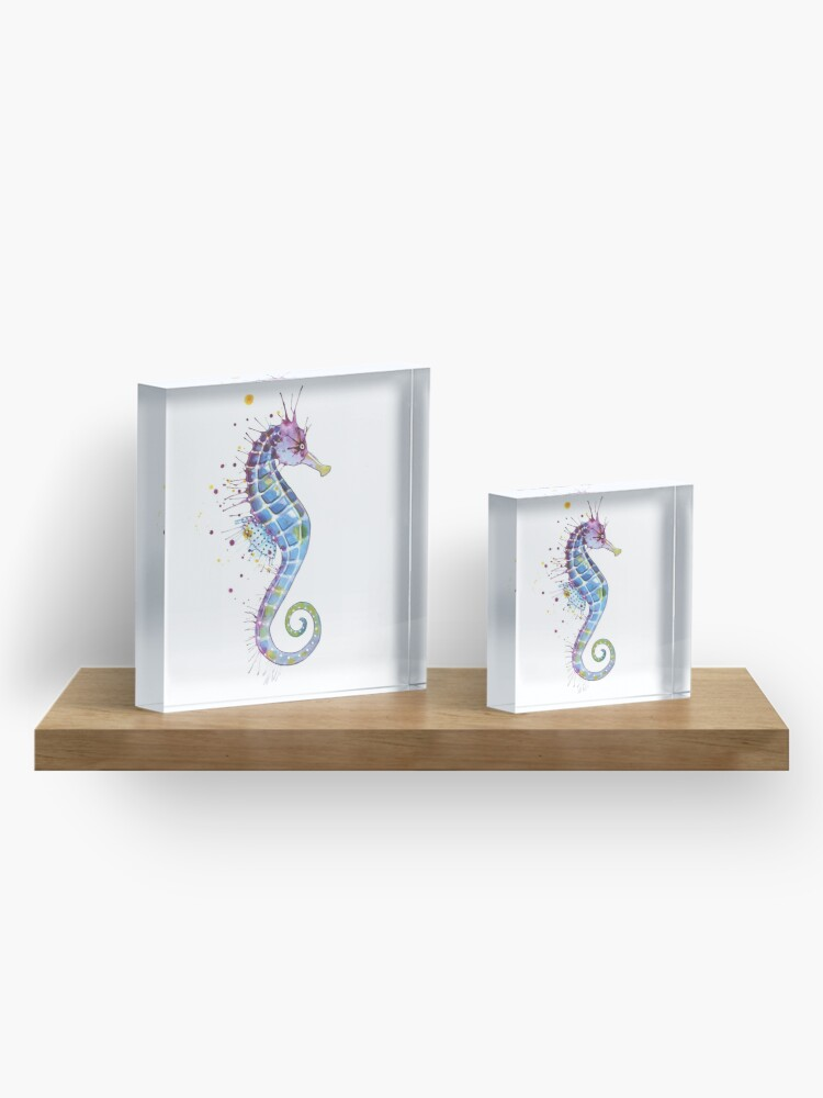 Alternate view of Seahorse - Purple Acrylic Block