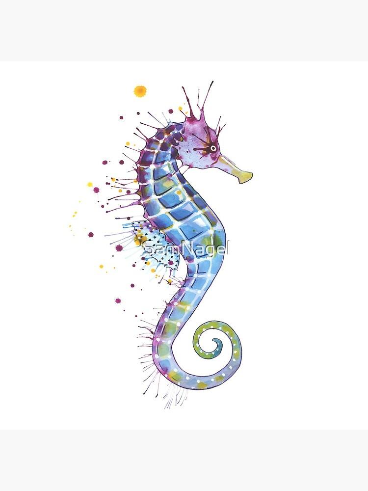 Seahorse - Purple by SamNagel