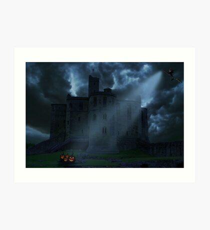 Castle at night Art Print