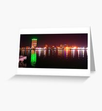 Galveston By Night Greeting Card