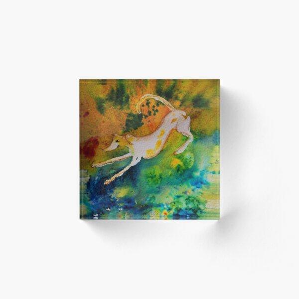 Lurcher Colour Fun Acrylic Block