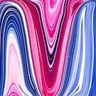 Pink And Blue Abstract Waves by daphsam