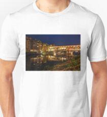 Impressions Of Florence - Ponte Vecchio Evening Unisex T-Shirt