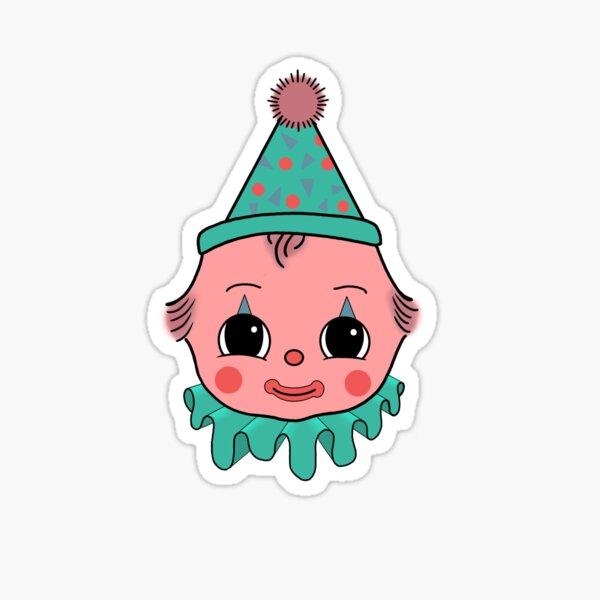 Kewpie Clown Sticker