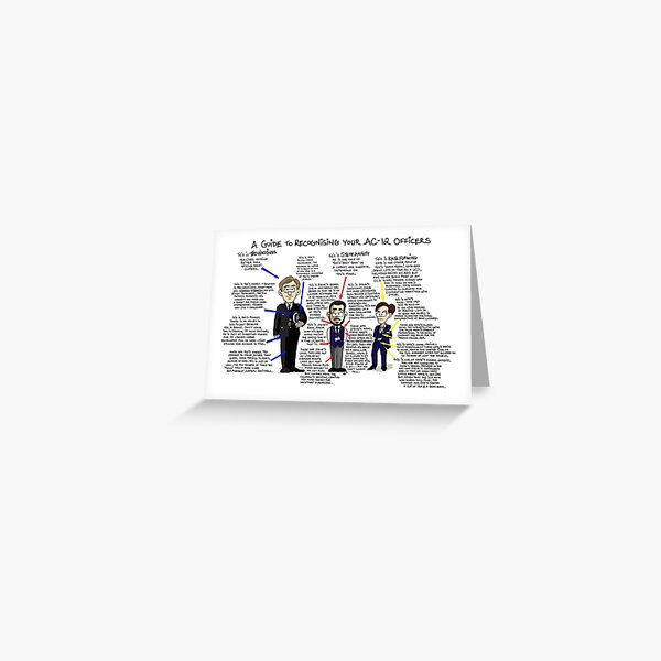Line of Duty AC12 Guide Greeting Card