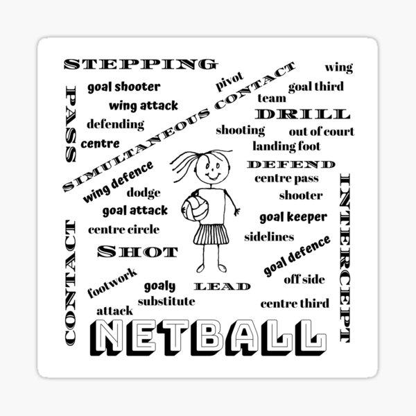 Netball My World Sticker