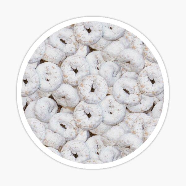 Mini Powdered Sugar Donuts Photo Pattern Sticker
