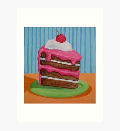 Cake slice 1 Art Print