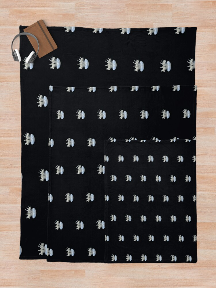 Alternate view of Tiny Jellyfish Throw Blanket