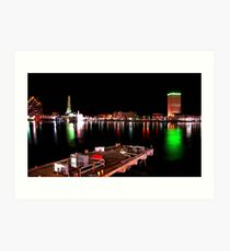 Galveston By Night II Art Print