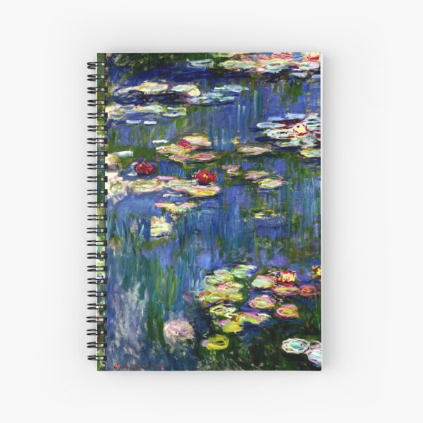 Claude Monet Water Lilies -  Iconic Image of Impressionism Spiral Notebook