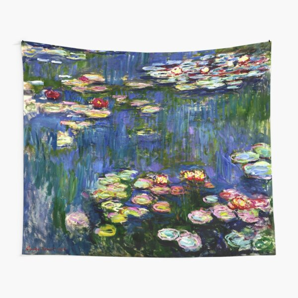 Claude Monet Water Lilies -  Iconic Image of Impressionism Tapestry