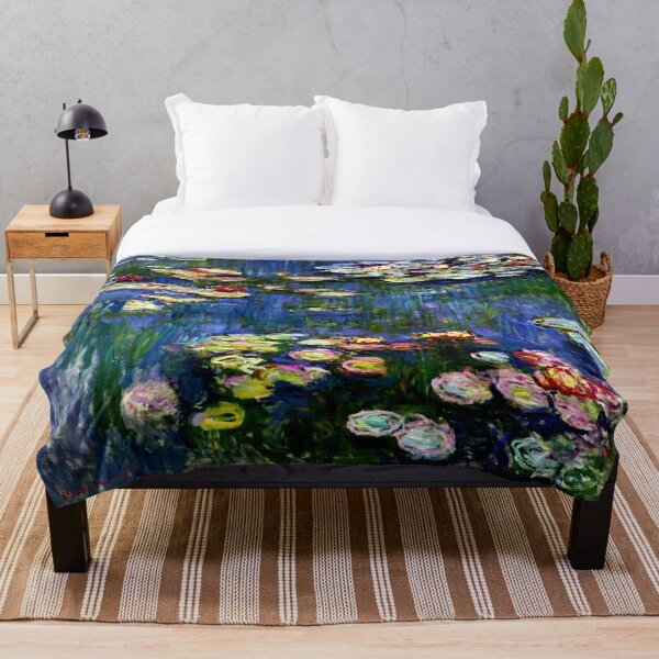 Claude Monet Water Lilies -  Iconic Image of Impressionism Throw Blanket