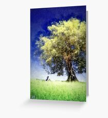 Knowledge Tree (painted) Greeting Card